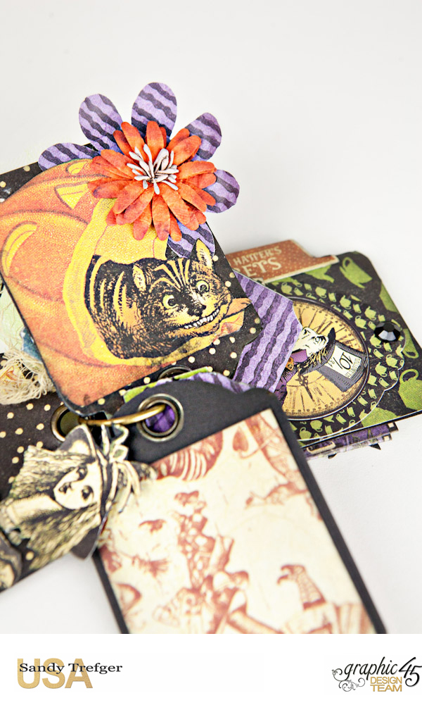 Curiouser Curiouser Trinket Box, Halloween in Wonderland, Tutorial by Sandy Trefger, Product by Graphic 45, Photo 17