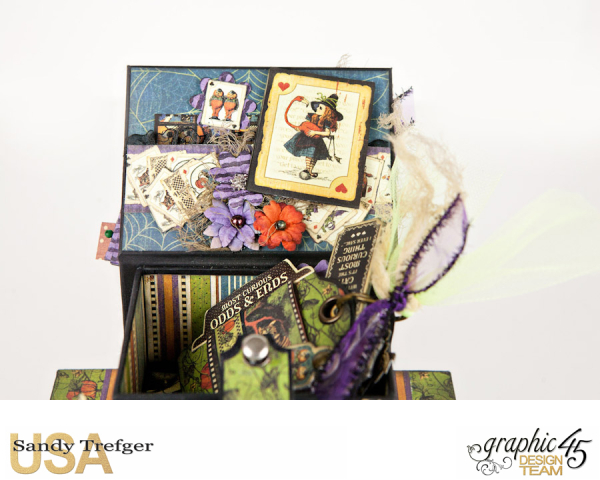 Curiouser Curiouser Trinket Box, Halloween in Wonderland, Tutorial by Sandy Trefger, Product by Graphic 45, Photo 10