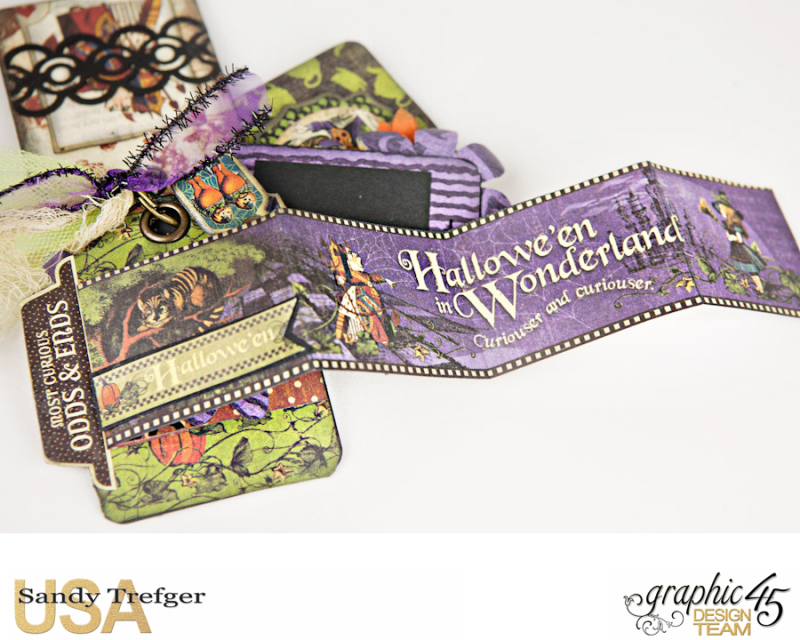 Curiouser Curiouser Trinket Box, Halloween in Wonderland, Tutorial by Sandy Trefger, Product by Graphic 45, Photo 16