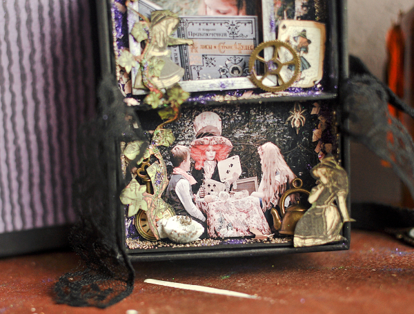 Book Box and mini album-Hallowe'en in Wonderland-Tutorial by Lena Astafeva-products by Graphic 45-Photo-28