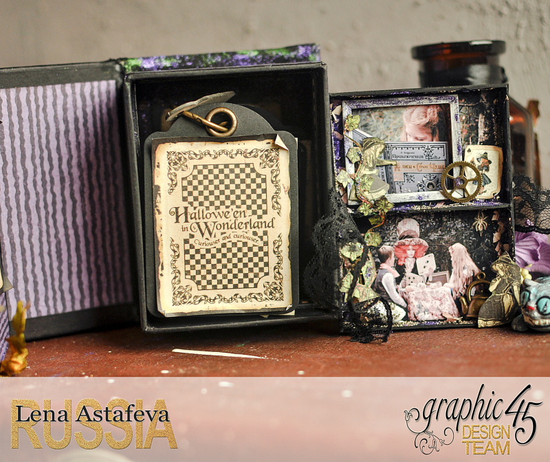 Book Box and mini album-Hallowe'en in Wonderland-Tutorial by Lena Astafeva-products by Graphic 45-Photo-33