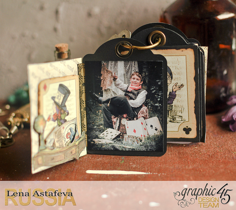 Book Box and mini album-Hallowe'en in Wonderland-Tutorial by Lena Astafeva-products by Graphic 45-Photo-41
