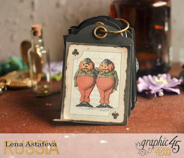 Book Box and mini album-Hallowe'en in Wonderland-Tutorial by Lena Astafeva-products by Graphic 45-Photo-49