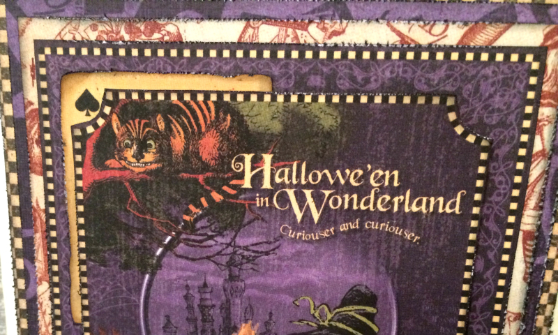 Hallowe'en Card, Hallowe'en in Wonderland DCE, Tutorial by Katelyn Grosart, Product by Graphic 45, Photo 4