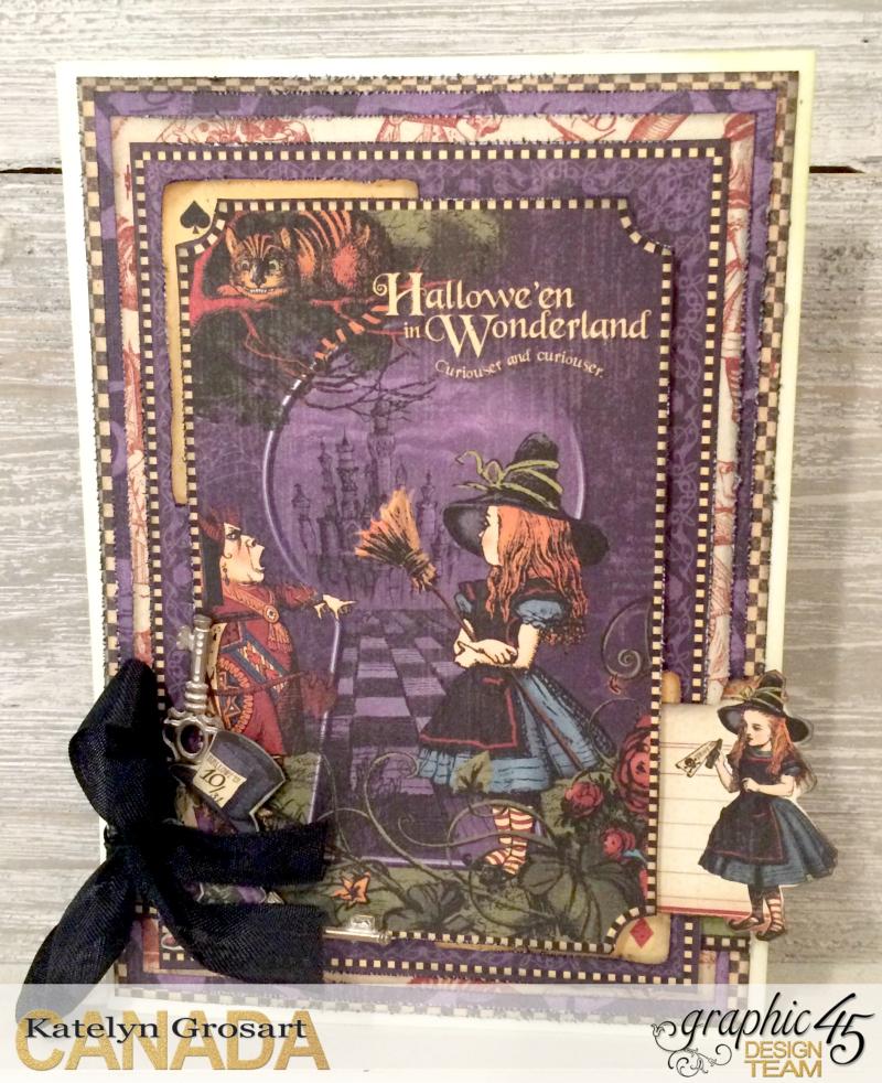 Hallowe'en Card, Hallowe'en in Wonderland DCE, Tutorial by Katelyn Grosart, Product by Graphic 45, Photo 1