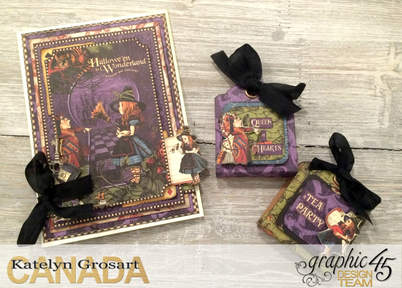 Hallowe'en Card _ Treat Tags, Hallowe'en in Wonderland DCE, Tutorial by Katelyn Grosart, Product by Graphic 45, Photo 1