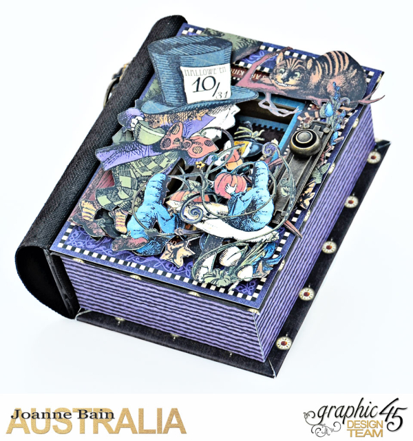 Book-Box,-Halloween-In-Wonderland,-Tutorial-By-Joanne-Bain,-Product-by-Graphic-45,-Photo-2