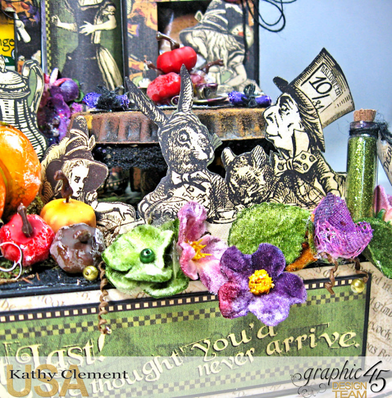 Halloween Tea with Alice, Halloween in Wonderland, by Kathy Clement, Product by Graphic 45 Photo 2