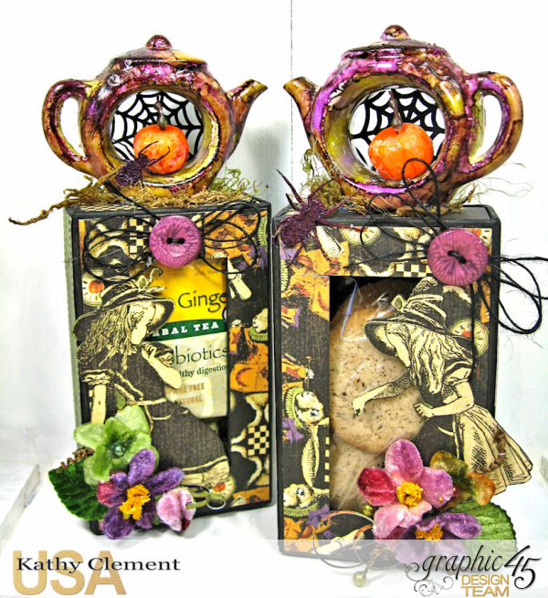Halloween Tea with Alice, Halloween in Wonderland, by Kathy Clement, Product by Graphic 45 Photo 7