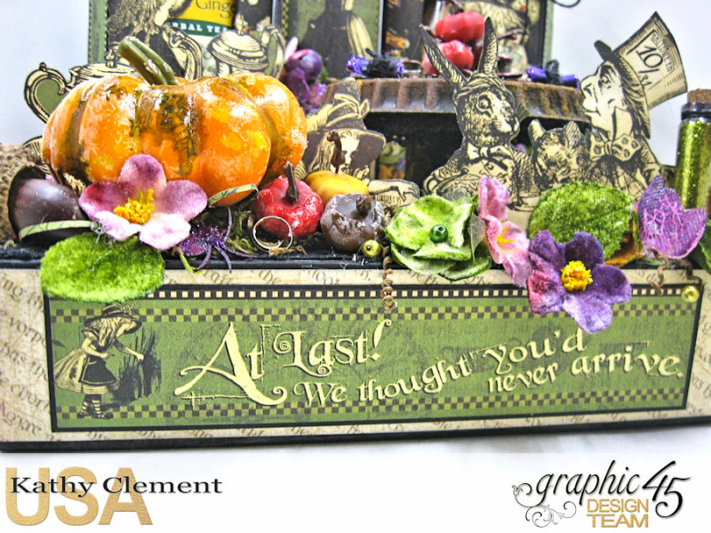 Halloween Tea with Alice, Halloween in Wonderland, by Kathy Clement, Product by Graphic 45, Photo 7