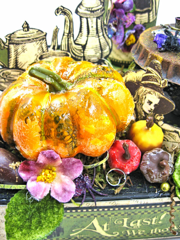 Halloween Tea with Alice, Halloween in Wonderland, by Kathy Clement, Product by Graphic 45, Photo 9
