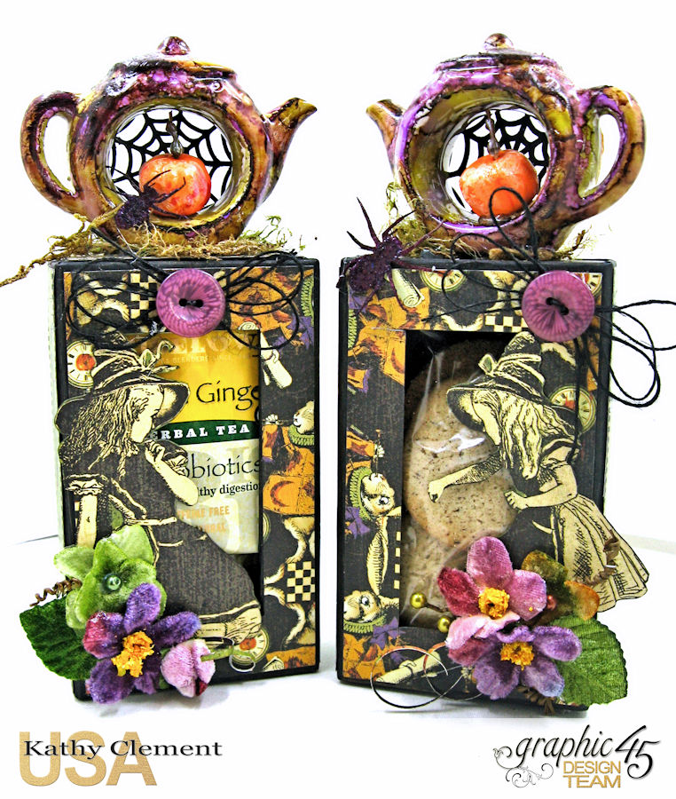 Halloween Tea with Alice, Halloween in Wonderland, by Kathy Clement, Product by Graphic 45, Photo 11