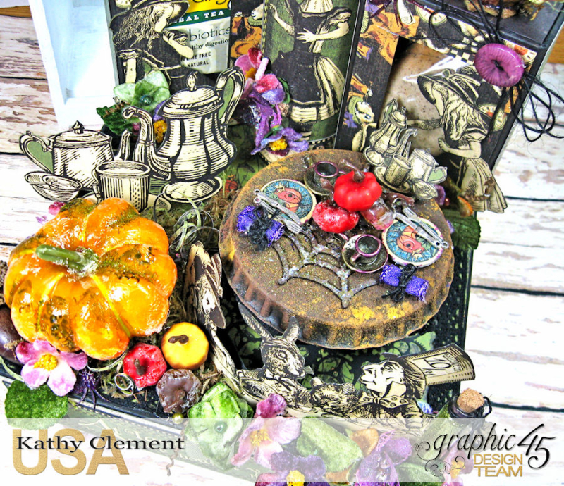 Halloween Tea with Alice, Halloween in Wonderland, by Kathy Clement, Product by Graphic 45 Photo 3