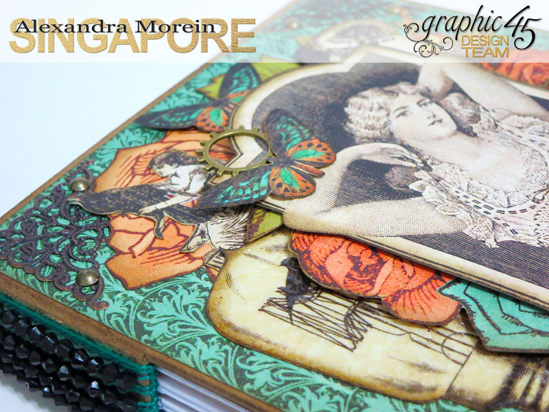 DIY Notebook, Steampunk Debuntante, Tutorial by Alexandra Morein, Product by Graphic 45, Photo 5