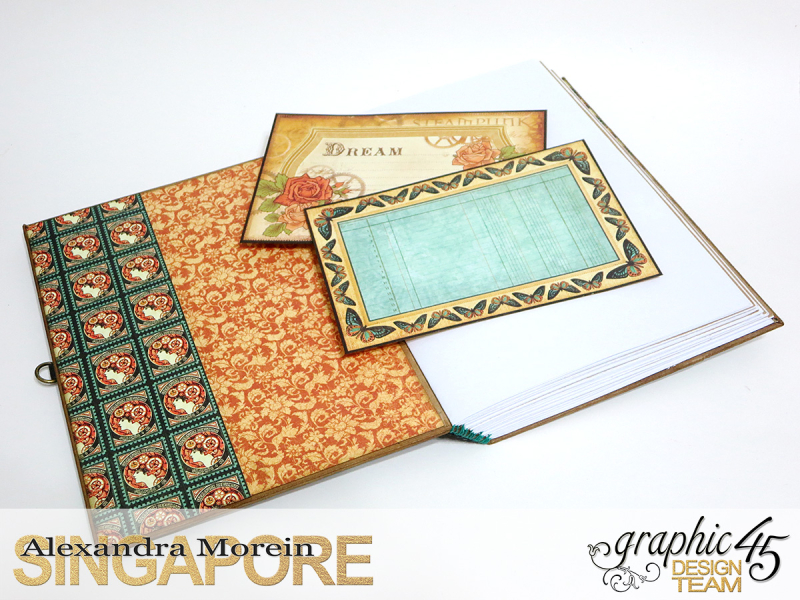 DIY Notebook, Steampunk Debuntante, Tutorial by Alexandra Morein, Product by Graphic 45, Photo 9