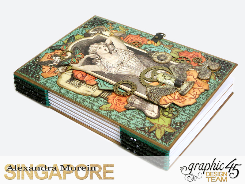 DIY Notebook, Steampunk Debuntante, Tutorial by Alexandra Morein, Product by Graphic 45, Photo 2