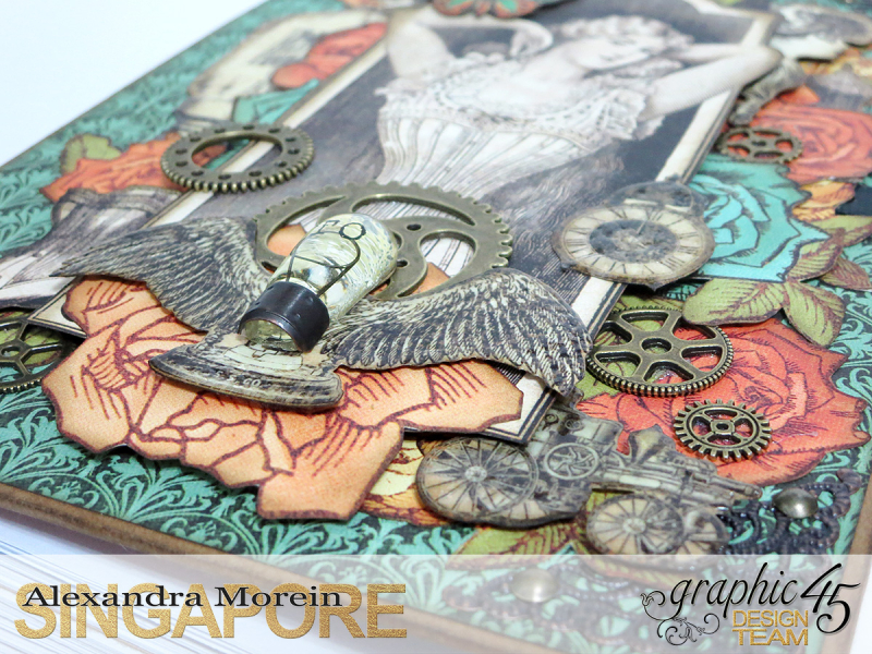 DIY Notebook, Steampunk Debuntante, Tutorial by Alexandra Morein, Product by Graphic 45, Photo 6