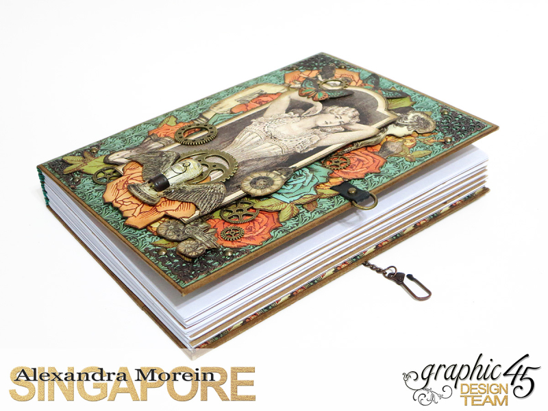 DIY Notebook, Steampunk Debuntante, Tutorial by Alexandra Morein, Product by Graphic 45, Photo 3