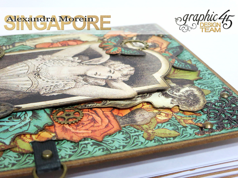 DIY Notebook, Steampunk Debuntante, Tutorial by Alexandra Morein, Product by Graphic 45, Photo 7