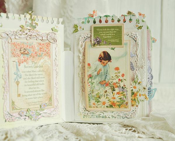 Pop-ap album-Secret Garden-by Lena Astafeva-Product by Graphic 45 -64