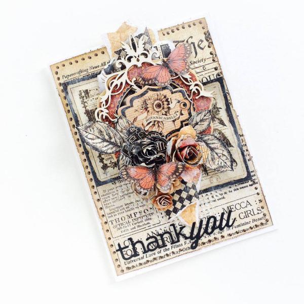 Botanicabella Thanksgiving Card Tutorial for Graphic 45 by Aneta Matuszewska, photo 1