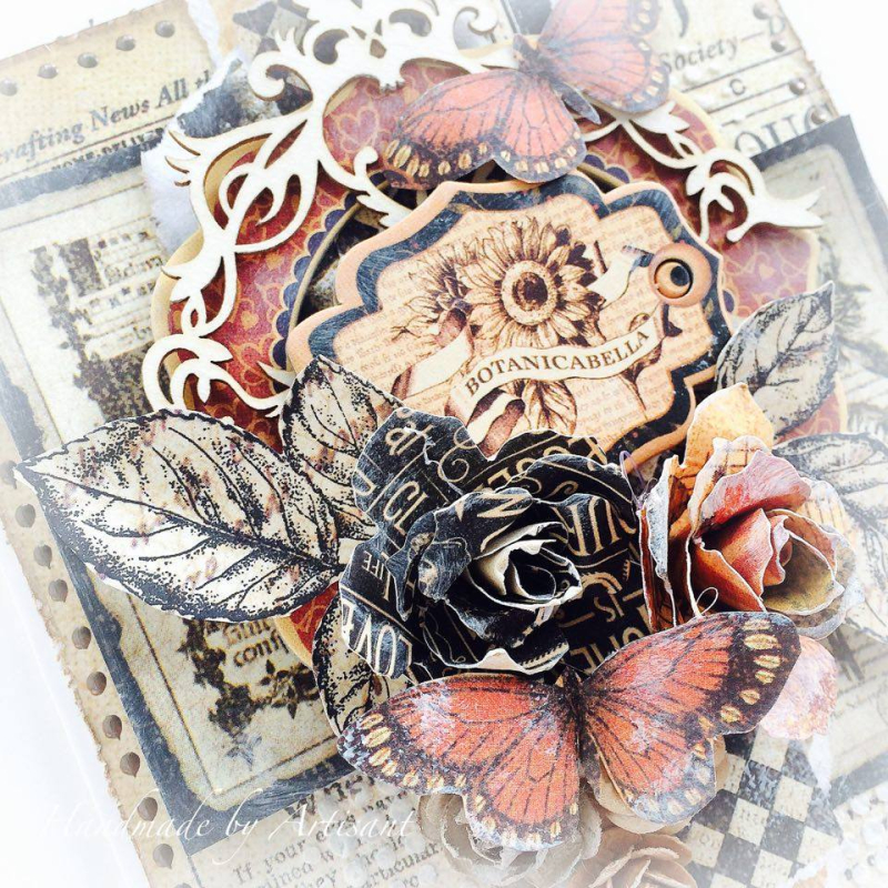 Botanicabella Thanksgiving Card Tutorial for Graphic 45 by Aneta Matuszewska, photo 3