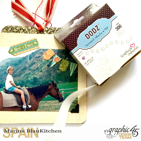 Mini Album Off to the Races Scrapbook Adhesives Blog Hop by Marina Blaukitchen Product by Graphic 45 photo 7