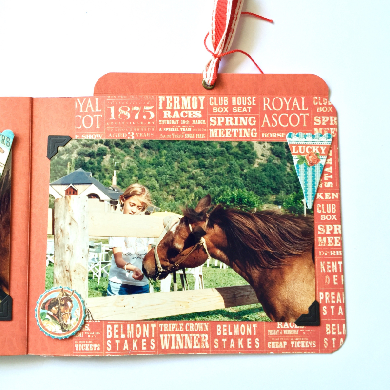 Mini Album Off to the Races Scrapbook Adhesives Blog Hop by Marina Blaukitchen Product by Graphic 45 photo 13