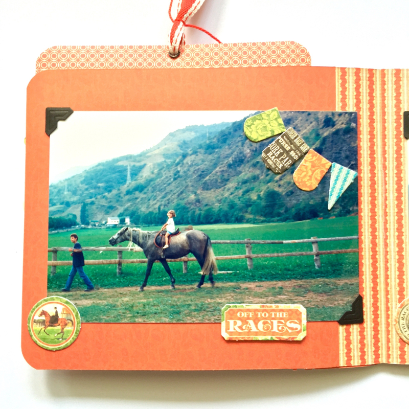 Mini Album Off to the Races Scrapbook Adhesives Blog Hop by Marina Blaukitchen Product by Graphic 45 photo 10