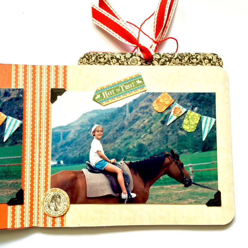 Mini Album Off to the Races Scrapbook Adhesives Blog Hop by Marina Blaukitchen Product by Graphic 45 photo 11