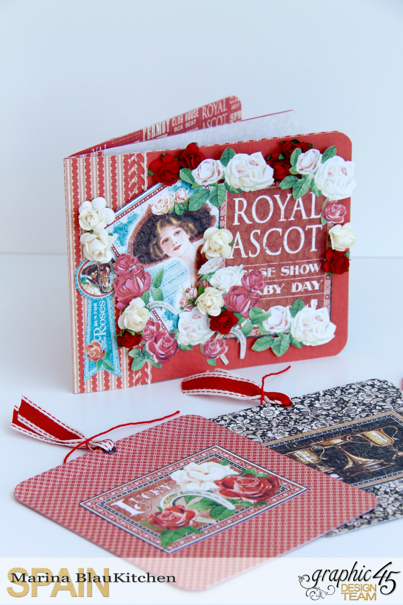 Mini Album Off to the Races Scrapbook Adhesives Blog Hop by Marina Blaukitchen Product by Graphic 45 photo 14