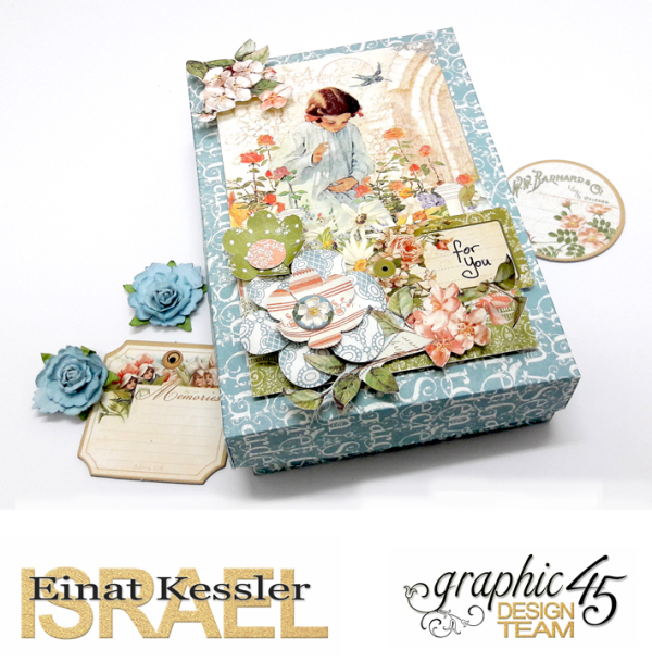 For You Card Box Set, Secret Garden, by Einat Kessler, product by Graphic 45, photo 3