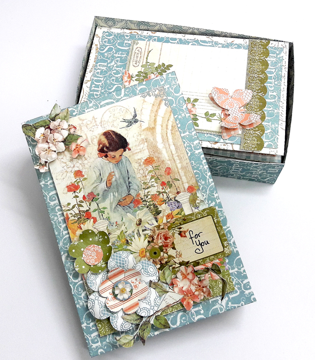 For You Card Box Set, Secret Garden, by Einat Kessler, product by Graphic 45, photo 4