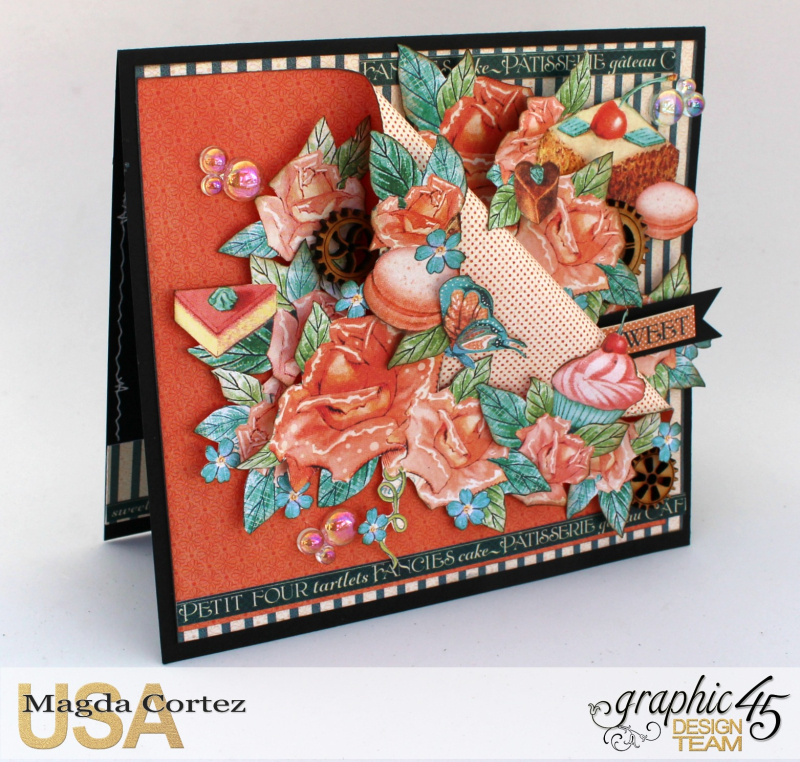 Sweet Card - Cafe Parisian - By Magda Cortez - Product by Graphic 45 - 02 of 03