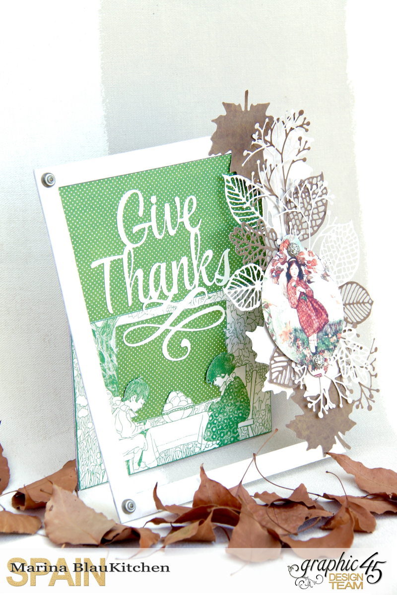 Thanksgiving Day Card Childrens Hour by Marina Blaukitchen Product by Graphic 45 photo 1