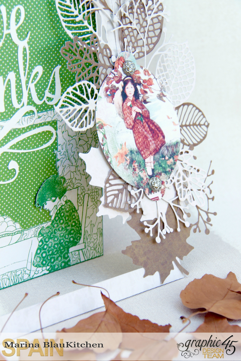 Thanksgiving Day Card Childrens Hour by Marina Blaukitchen Product by Graphic 45 photo 3