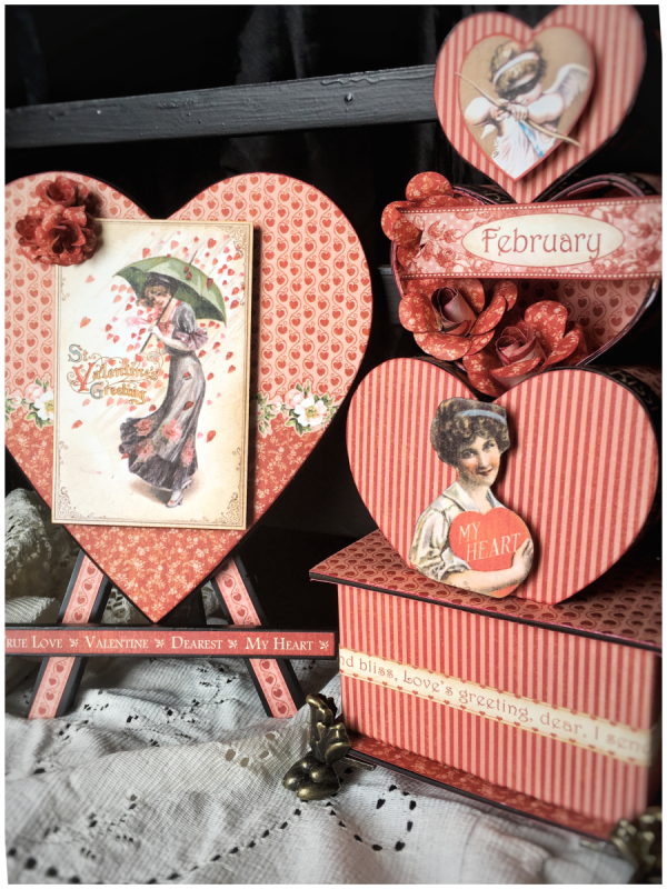 February ideas from Diane Schultz's workshop using Place in Time