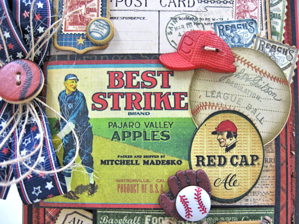 Batter Up Masculine Birthday Card, Good Old Sport, by Kathy Clement, Product by Graphic 45, Photo 1
