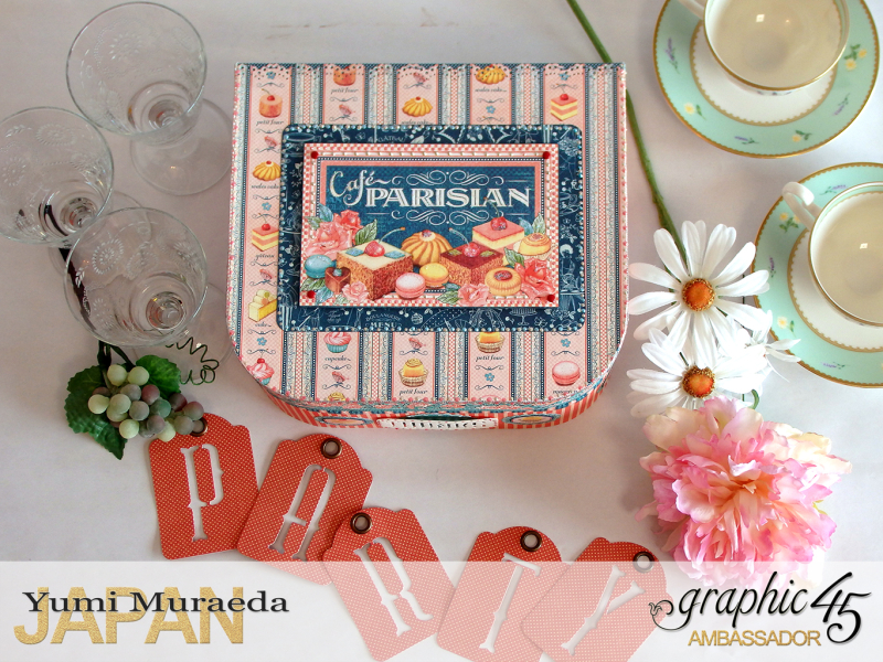 Thank you gift and Case Graphic45  Cafe Parisian  by Yumi Muraeada Product by Graphic 45 Photo1