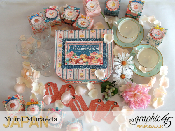 Thank you gift and Case Graphic45  Cafe Parisian  by Yumi Muraeada Product by Graphic 45 Photo2