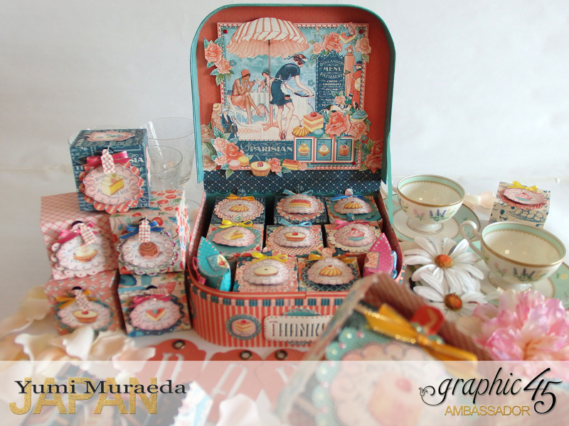 Thank you gift and Case Graphic45  Cafe Parisian  by Yumi Muraeada Product by Graphic 45 Photo3