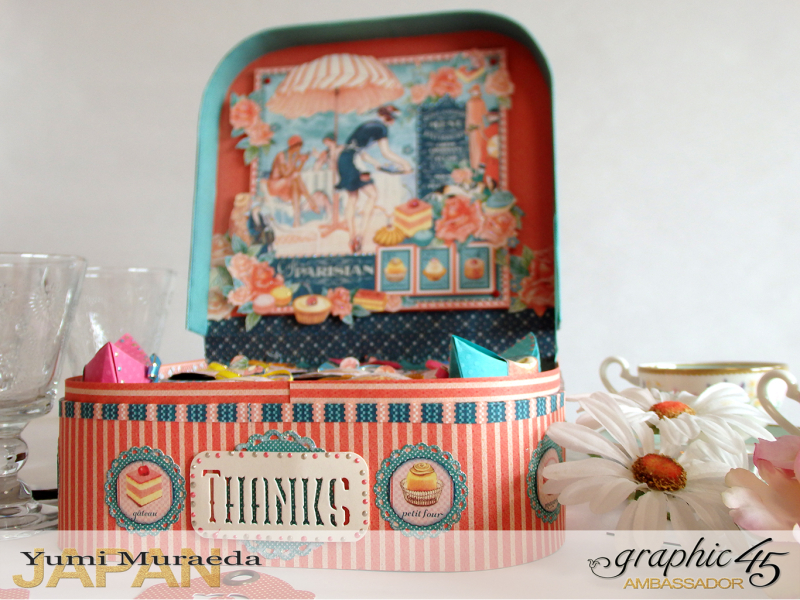 Thank you gift and Case Graphic45  Cafe Parisian  by Yumi Muraeada Product by Graphic 45 Photo5