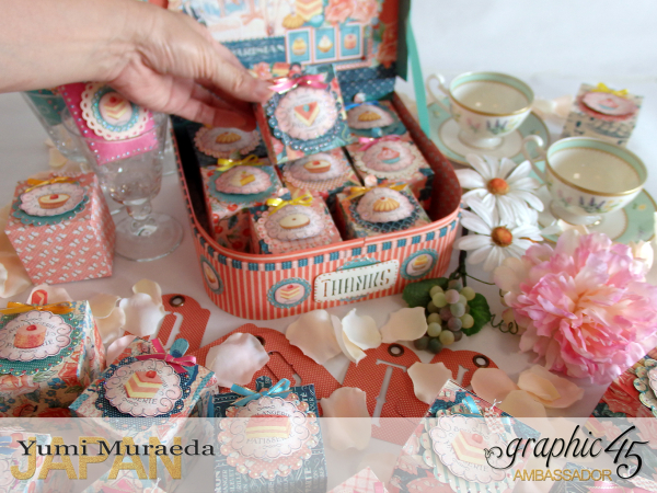 Thank you gift and Case Graphic45  Cafe Parisian  by Yumi Muraeada Product by Graphic 45 Photo9