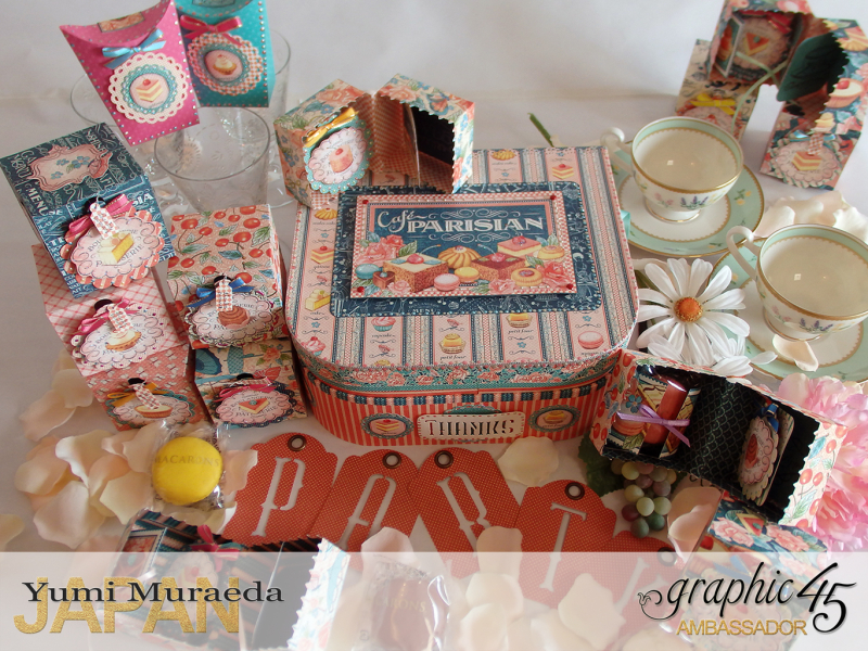 Thank you gift and Case Graphic45  Cafe Parisian  by Yumi Muraeada Product by Graphic 45 Photo10
