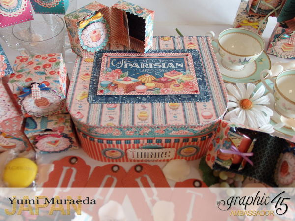Thank you gift and Case Graphic45  Cafe Parisian  by Yumi Muraeada Product by Graphic 45 Photo12