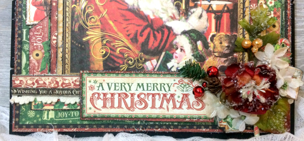 Wall Hanging, St.Nicholas, By Katelyn Grosart, Product by Graphic 45, Petaloo & Xyron, Photo 2