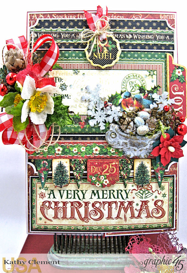 Very Merry Christmas Card Tutorial, Saint Nicholas, by Kathy Clement, Product by Graphic 45, Photo 3