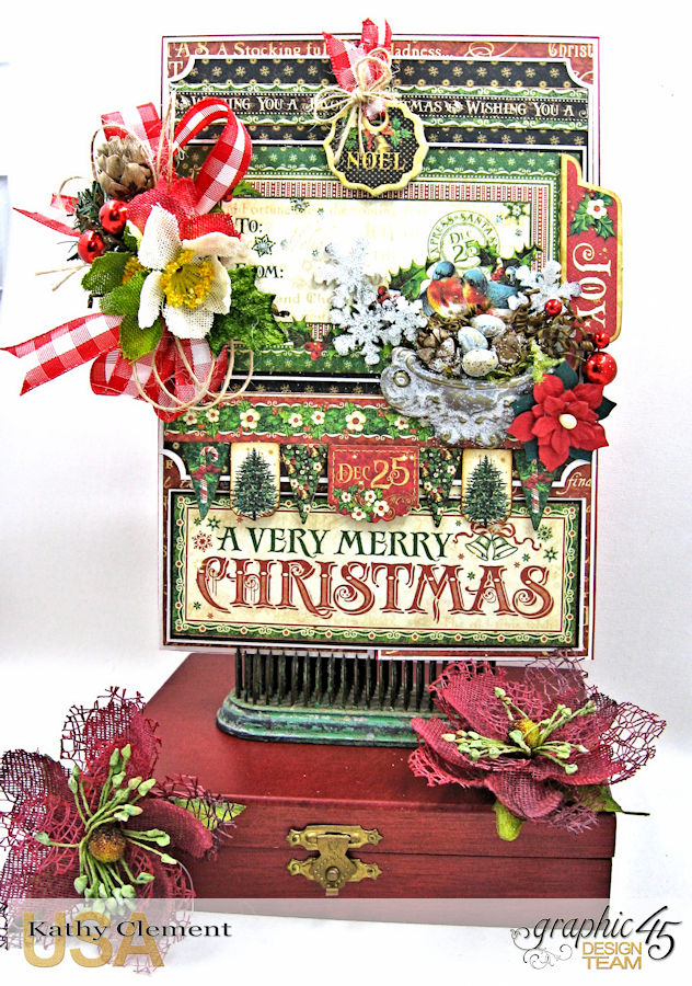 Very Merry Christmas Card Tutorial, Saint Nicholas, by Kathy Clement, Product by Graphic 45, Photo 2