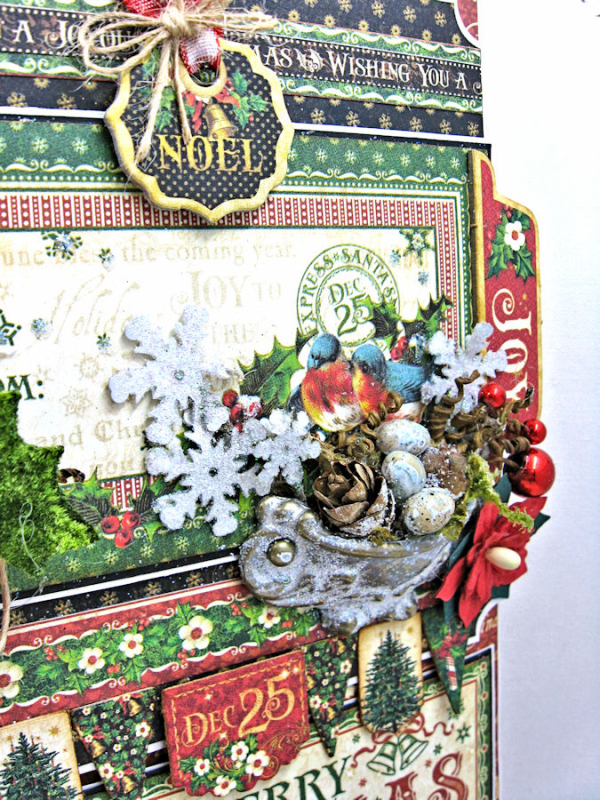 Very Merry Christmas Card Tutorial, Saint Nicholas, by Kathy Clement, Product by Graphic 45, Photo 5