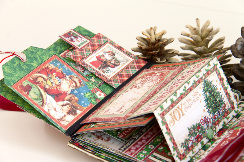 December Daily Album St. Nicholas Petaloo and Xyron Blog Hop by Marina Blaukitchen Product by Graphic 45 photo 25